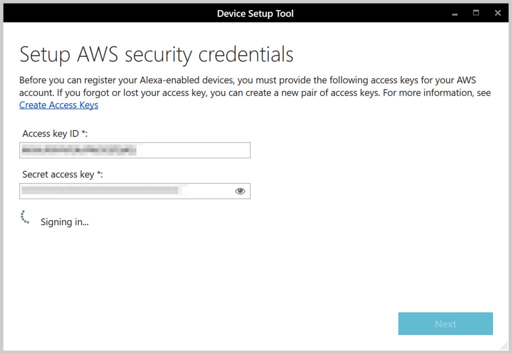 Setup AWS security credentials